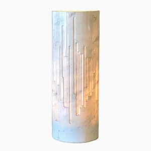 Sculptural Marble Table Lamp by Gruppo NP2 for Forme e Superfici Torino Contrappunti, 1960s