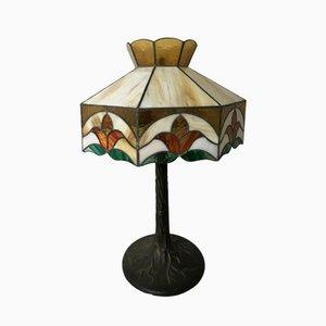Vintage Tischlampe aus Glas