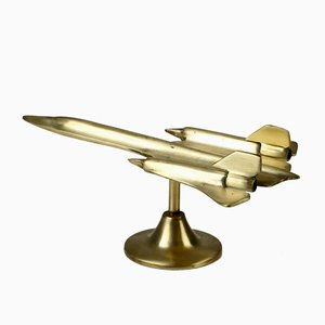Brass Airplane Model from RAB, 1960s