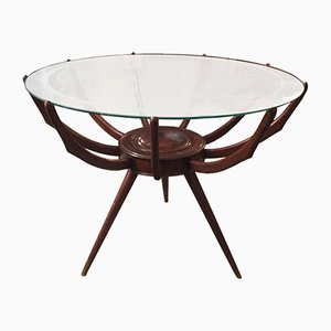 Italian Walnut Spider Coffee Table by Carlo de Carli, 1950s