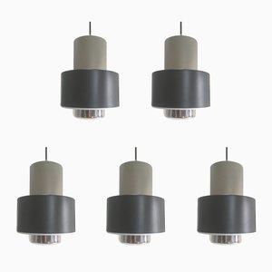 Lámparas colgantes de Philips, años 60. Juego de 5