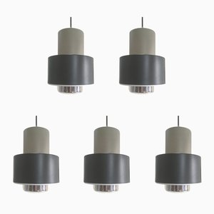 Pendant Lights from Philips, 1960s, Set of 5