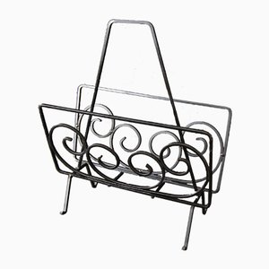Wrought Iron Magazine Rack, 1960s