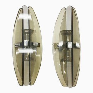 Elliptical Wall Sconces from Veca, 1970s, Set of 2