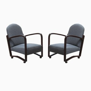Vintage Italian Lounge Chairs, 1940s, Set of 2