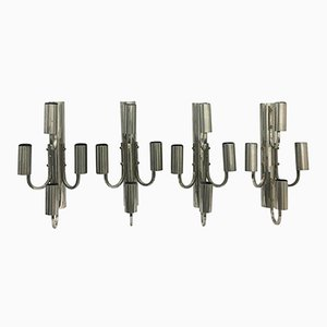 Large Italian Space Age Wall Sconces, 1960s, Set of 4