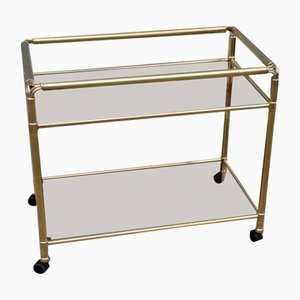 Vintage Solid Brass Bar Trolley, 1970s