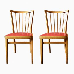 Holzstühle, 1950er, 2er Set