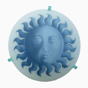 Lámpara de pared Soleil Bleu de Piero Fornasetti, años 80