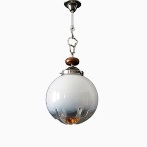 Italian Mid-Century Pendant Lamp in Murano Glass from Mazzega