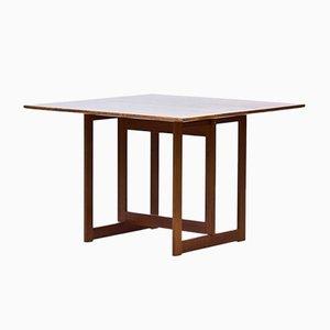 Mesa de centro cuadrada de caoba de Karl Andersson & Söner, años 50