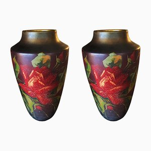 French Art Deco Vases, 1930s, Set of 2