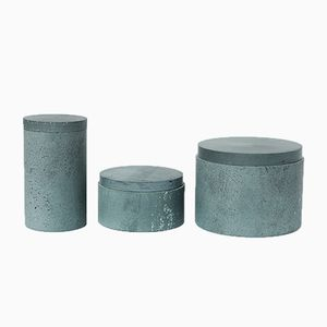 S.Pot Soapstone Boxes by Maddalena Selvini, Set of 3