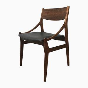 Sedia in palissandro di Vestervig Eriksen per Brdr. Tromborg's Eftf, anni '60