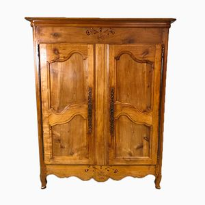 19th Century Louis XV Wardrobe in Cherry