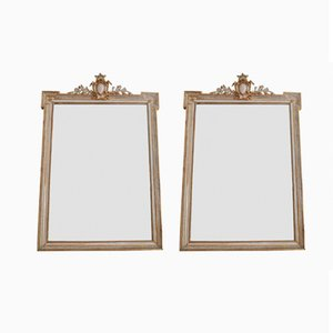 Große antike französische Spiegel, 2er Set