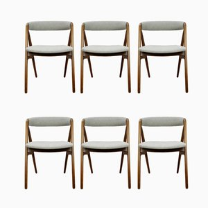 Teak Side Chairs by Th. Harlev for Farstrup Møbler, 1950s, Set of 6
