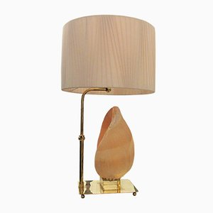 Lampada da tavolo Mid-Century con conchiglia