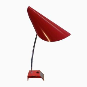 Mid-Century Red Table Lamp by Josef Hurka for Napako, 1960