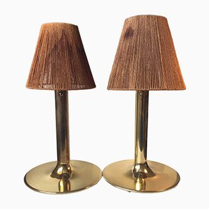 Mid-Century Swedish Brass Table Lamps by Anders Pehrson for Ateljé Lyktan, 1960s, Set of 2