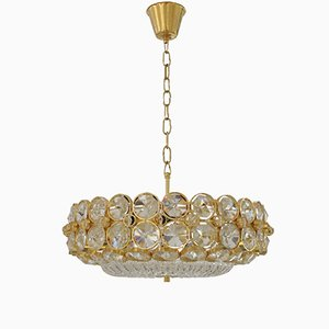 Swedish Crystal Ceiling Light, 1970s