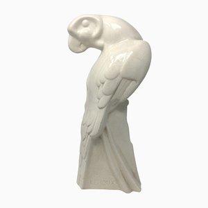 French Art Deco Parrot Sculpture by Leroux, 1930s