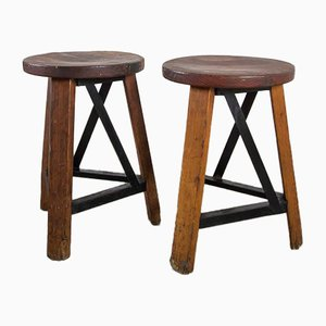 Taburete industrial vintage, Set of 2