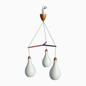 Lámpara colgante de Uno & Östen Kristiansson para Luxus, años 60