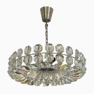 Lampada da soffitto Mid-Century in cristallo, anni '60