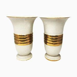 French Art Deco Vases, 1930s, Set of 2