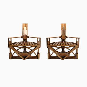 Constructivist Chairs from Costea Covamaad, 1980s, Set of 2