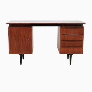 Teak Schreibtisch mit ausziehbare Regalen, 1960er