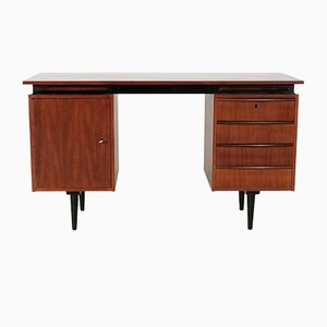 Teak Writing Desk with Extendable Pull-Out Shelves, 1960s