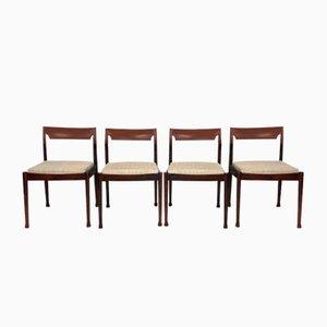 Dänische Palisander Esszimmerstühle, 1960er, 4er Set