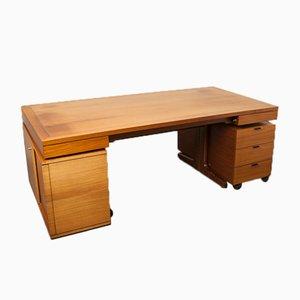 Vintage Teak & Aluminium Schreibtisch