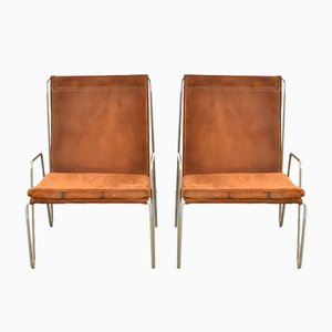 Model 3351 Bachelor Armchairs by Verner Panton for Fritz Hansen, 1950s, Set of 2