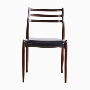 Modell 78 Rosewood Dining Chairs by Niels Otto Møller for J.L. Møllers Møbelfabrik, 1960s, Set of 6