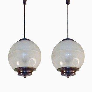 Lampe à Suspension LP8 par Ignazio Gardella pour Azucena, 1956, Set de 2