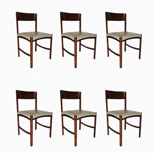 Italian Rio Rosewood Chairs by Gianfranco Frattini, 1960s, Set of 6