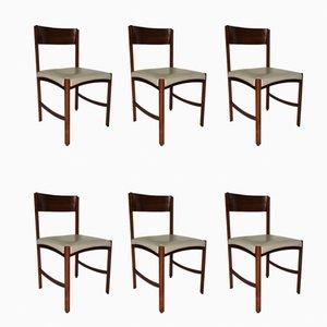 Italienische Rio Palisander Stühle von Gianfranco Frattini, 1960er, 6er Set