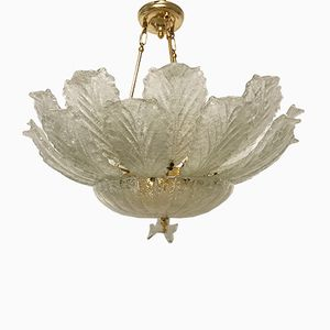 Murano Glass Flush Mount Chandelier