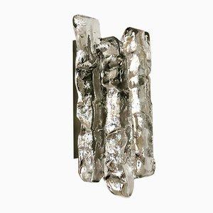 Eisglas Wandleuchte von J.T. Kalmar für Franken KG, 1960er