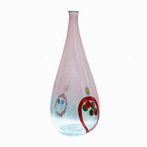 Multicolored Blown Glass Vase by Angolo Fuga for Avem Murano, 1950s