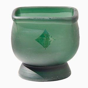 Milchig grüne dekorative italienische Schale, 1970er