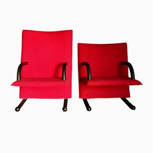 Pair of T-Line Lounge Chairs by Burkhard Voghterr for Arflex, 1984