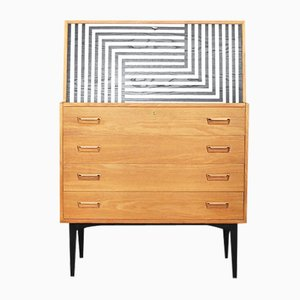 Danish Secretaire with Labyrinth Pattern by Arne Wahl Iversen for Vinde Møbelfabrik, 1960s