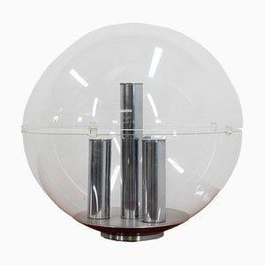Lampada da tavolo grande sferica di Stilux, anni '60