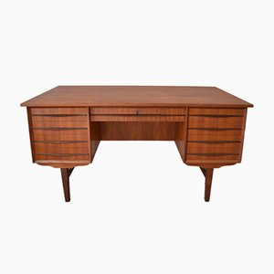 Danish Teak Executive Desk, 1960s
