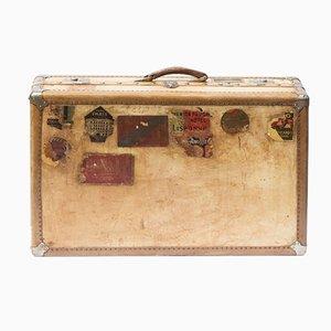 Antiker großer Large Pergament Koffer