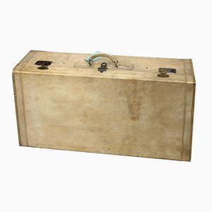 Antique Vellum & Parchment Suitcase